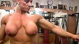 Gym muscled woman