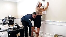 Lucky policeman is getting a chance to fuck a slutty busty doll Emma Star