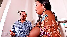 Sweetheart Sofia Lee screwed in DP mode by two massive sausages