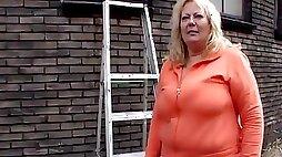 Bbw Dutch Mature Has Sex