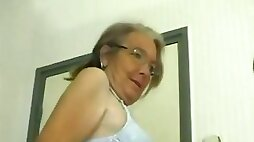 This four eyed granny loves fuck and she gives some good head