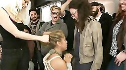 Submissive minx with a thick ass gets dominated at a hairdresser salon