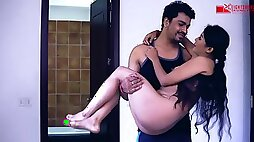 Bare Indian housewife Kaamwali Bai got down and messy with her employer and loved it