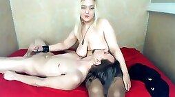 EAST EUROPEAN WEBCAM COUPLE BREASTFEEDING BOYFRIEND