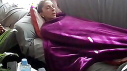 Wanking under the covers in front of sister in law