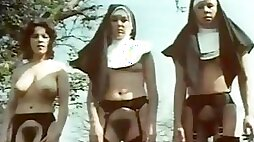Lewd Vintage Nuns Show Their Thick Bushes And Juicy Tits