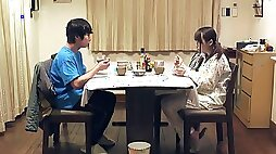 Japanese brother in law pounds step sister
