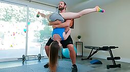 Impressive skinny teen Lily Glee and her tight hairy crack
