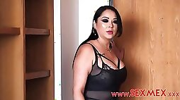 Bodacious dark haired with thick orbs Pamela Rios is having ass fucking romp with one of her paramours