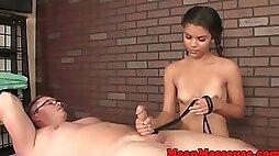 Latina masseuse humiliates customer