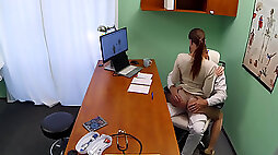 Caroline Ardolino has multiple squirting orgasms at doctors appointment