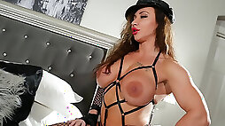 Virgin Candy Muscle stunner and transsexual Fuck