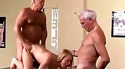 Vintage Old Young Girl get Fucked White Hair Grandpas watch
