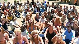 Hippie community with public nudity lesbian and group sex