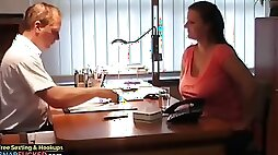 Naughty wife came for an interview to get new job