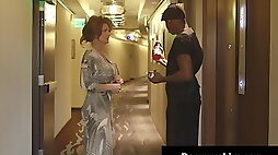 Sexy Cougar Deauxma Big Black hard long Cock sucked and Banged In Hotel!