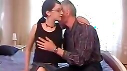 Dad Gives His Plain Daughter First Taste Of Cock !