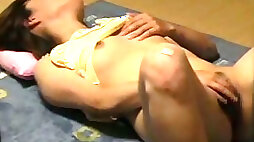 Spying on my young cute Japanese neighbor chick masturbating