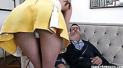 Horny fucking 19 yo step granddaughter in short skirt Zoe Sparx