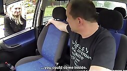 Young Hairy Pregnant Czech Prostitute Fucks her pussy With Senior Driver