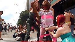 Folsom Street Fair Sissy Handjob Femdom Video
