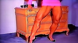 Arousingly Hot Muscle In Hot Pink Dress...Bombshell LDR On Fire