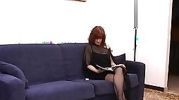 Redhead MILF Gets Anal wired Missionary As Moans