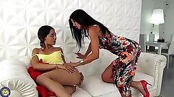 Two moms fuck two daughters