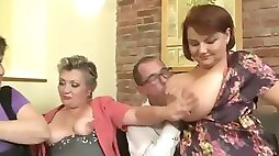 Grannies on One Cock